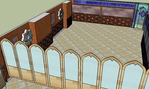 نمونه اجرا شده پاراوان مسجد و نمازخانه