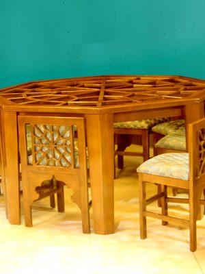 میز گره چینی 8 ضلعی سنتی